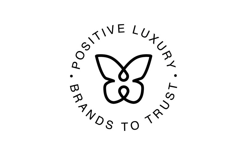 The butterfly mark is a trust mark created by Positive Luxury.